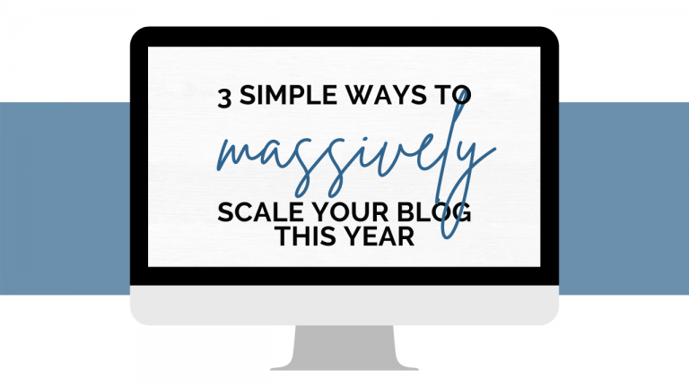 free masterclass scale your blog success